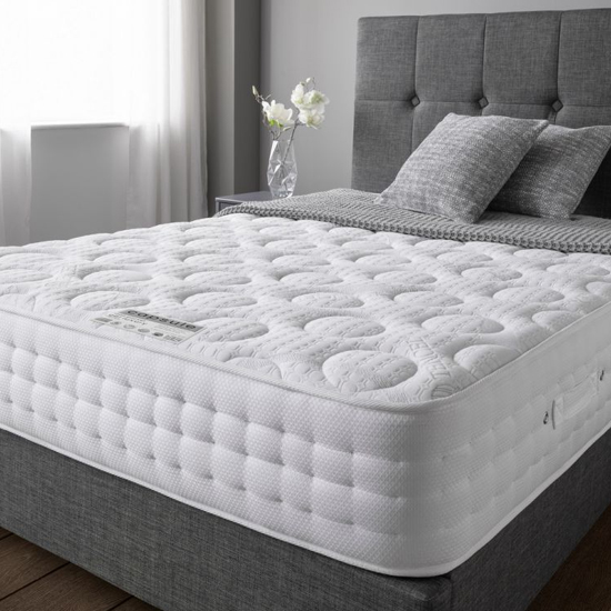 Cleburne Gel Luxury Micro-Quilted Fabric Double Mattress