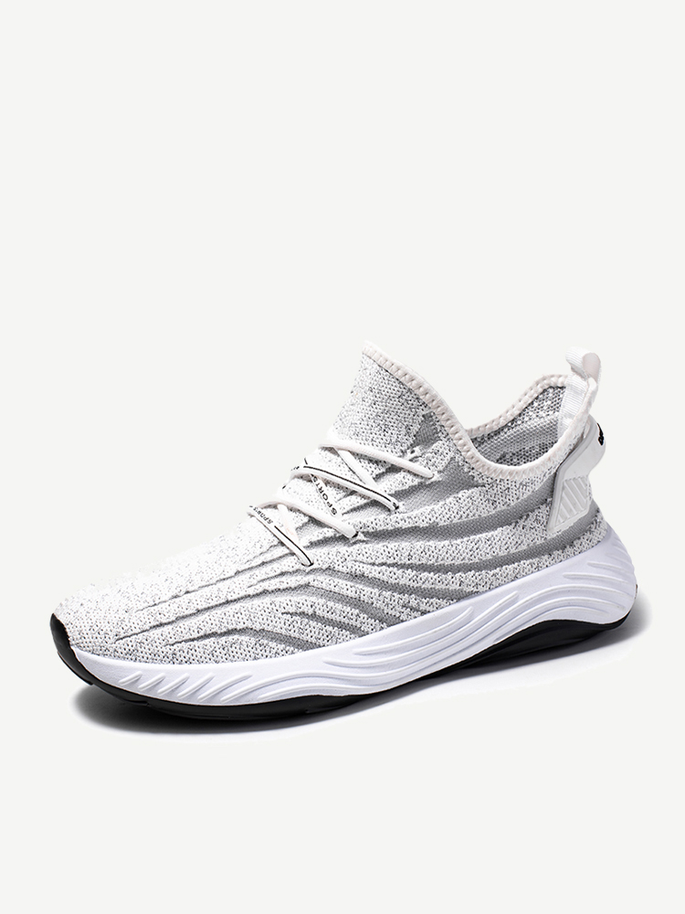 Men Knitted Fabric Breathable Soft Running Casual Sneakers